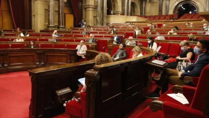 Imatge de l'hemicicle del Parlament durant el ple celebrat aquesta setmana