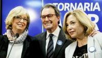 Irene Rigau, Artur Mas i Joana Ortega, en saber la seva condemna per inhabilitació, el març del 2017, per haver convocat la consulta del 9-N del 2014