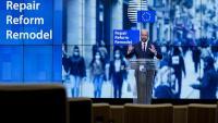 Michel, en la presentació de la nova proposta de repartiment, que debatran els líders dels estats la setmana vinent
