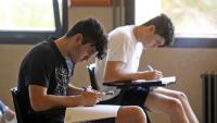Estudiants fent la selectivitat al campus Mundet de Barcelona, dimarts passat