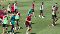 L'últim entrenament del Girona abans d'anar cap a Lugo