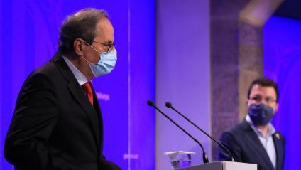 El president Quim Torra i el vicepresident Pere Aragonès