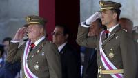 El rei emèrit Joan Carles I amb el seu fill, Felip VI