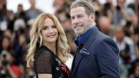 L'actriu Kelly Preston amb el seu marit John Travolta a Cannes