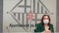 Ada Colau, alcaldessa de Barcelona, ahir durant la roda de premsa en què va valorar la situació de la pandèmia a la capital del país