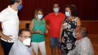 Alcaldes del Baix Segre analitzant ahir la situació de la comarca