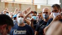 Treballadors de Nissan concentrats a les portes del Servei de Relacions Laborals