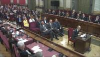 Els independentistes catalans , durant el final del judici al Tribunal Suprem, el juny del 2019