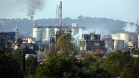 La planta d'Iqoxe a la Canonja, el dia que es va produir l'explosió