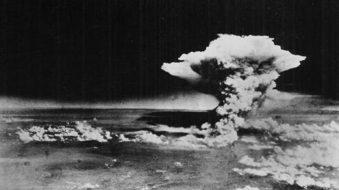 L'explosió sobre Hiroshima vista des de l''Enola Gay'.