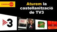 La Plataforma per la Llengua exigeix a TV3 que aturi la castellanització de la cadena pública