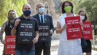 Acte d'Òmnium i l'ANC davant la Sagrada Família de Barcelona