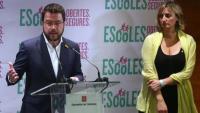 El vicepresident i conseller d'Economia, Pere Aragonès, i la consellera de Salut, Alba Vergés