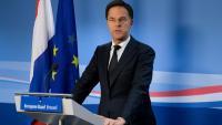 El primer ministre Mark Rutte durant una atenció als mitjans a Brussel·les al febrer