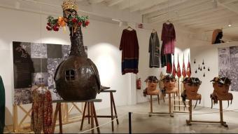L'Àliga, en un dels espais centrals de la mostra