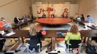 Membres del Govern a la reunió del Consell Executiu setmanal
