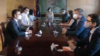 La vicepresidenta Calvo rebia una delegació de Ciutadans amb Edmundo Bal al capdavant i tractament d'aliat