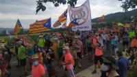 Gairebé vuit de cada deu catalans rebutgen la monarquia espanyola. A la imatge, les protestes per la recent visita de Felip VI al monestir de Poblet