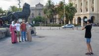 Un grup de turistes aquesta setmana al centre de Barcelona