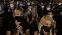 Treballadors de Nissan esperant el resultat de l'última mediació de l'ERO, el passat 31 de juliol