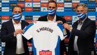 Vicente Moreno en la seva presentació com a nou entrenador de l'Espanyol.