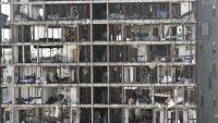 Un dels blocs de pisos afectats per l'onada expansiva de l'explosió de dimarts al port de Beirut
