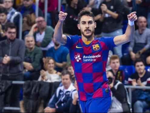 Adolfo, en un partit d'aquesta temporada al Palau Blaugrana