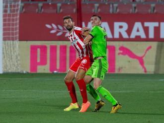 Stuani, en una acció del partit de lliga entre el Girona i l'Almeria