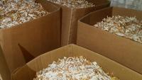 Caixes de cigars en una fàbrica clandestina de tabac a Les Borges Blanques