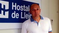 Pla mitjà del secretari general de la Federació d'Hostaleria de Lleida, Ramon Solsona