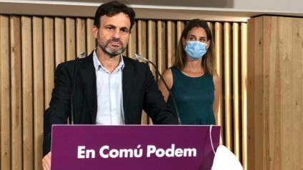 Jaume Asens i Jéssica Albiach durant la roda de premsa
