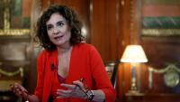 La ministra portaveu, María Jesús Montero, durant l'entrevista amb l'agència