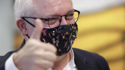 Lluís Puig Gordi, ahir a Brussel·les, després de saber la sentència