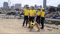 Membres de rescats alemanys, ahir a Beirut