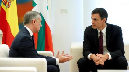 El lehendakari Urkullu i el president Sánchez, en una reunió el juny del 2018