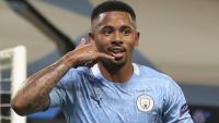 Gabriel Jesus celebra el gol del triomf