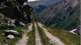 La via del carrilet a l'estany Gento, en una imatge d'arxiu