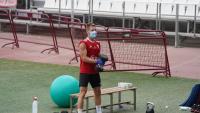 Ivan Balliu en un entrenament de la setmana passada