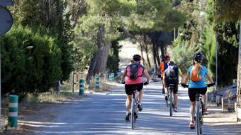 Imatge d'arxiu d'un grup de ciclistes en ruta