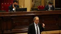 El president de la Generalitat, Quim Torra, durant el ple del Parlament del passat divendres que va debatre sobre la monarquia