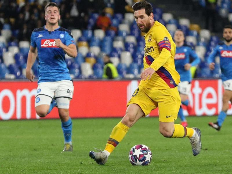 Messi, en el partit d'anada al febrer