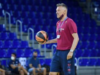 El primer dia del nou entrenador del Barça