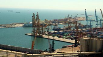 Imatge aèria de les instal·lacions del Port de Barcelona