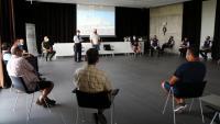 Imatge de la reunió mantinguda a Reus entre representants d'Unió de Pagesos i Mossos d'Esquadra