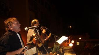 El Vesper, en primer terme, amb Carles Fontfreda, en el pregó de les Festes del Tura de l'any 2007