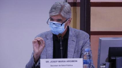El secretari de Salut Pública, Josep Maria Argimon, durant la roda de premsa d'aquest dijous
