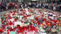 Imatge de l'homenatge a les víctimes dos dies després de l'atemptat de Barcelona el 17 d'agost del 2017