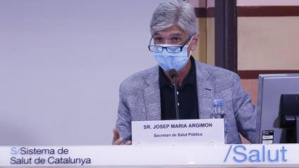 El secretari de Salut Pública, Josep Maria Argimon, durant la roda de premsa d'aquest dimarts