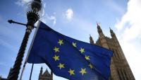 Una bandera europea, al centre de Londres
