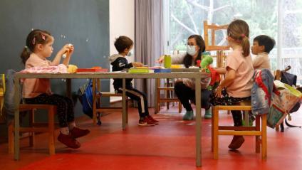 Alumnes d'infantil de l'Institut Escola Costa i Llobera